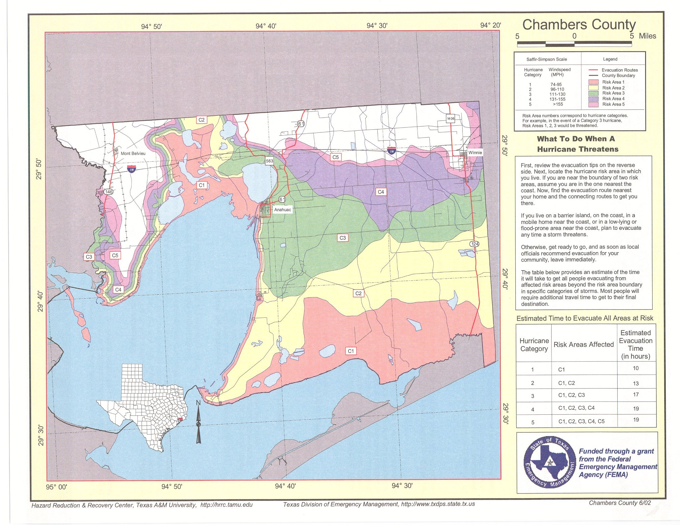 Chambers County Risk Area Map - Fema flood maps texas