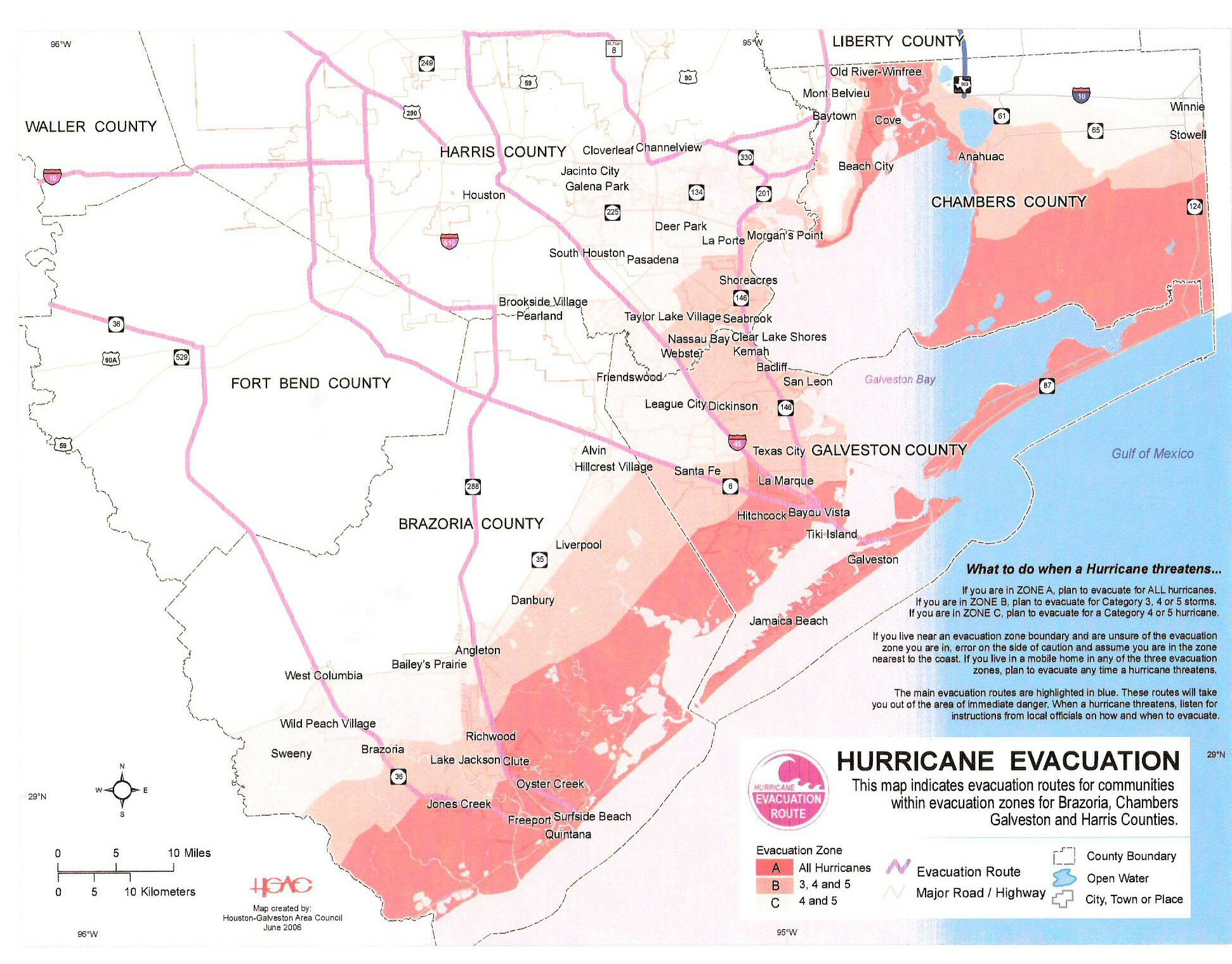ChambersHarris County TX Hurricane Risk Area Map